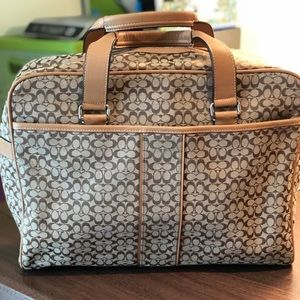 Coach Khaki Diaper Bag